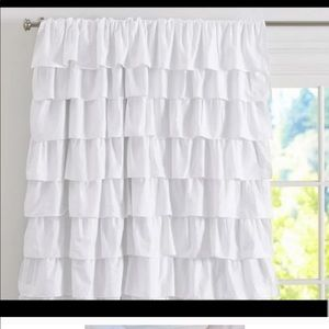 Pottery barn white ruffle black our curtains (2)